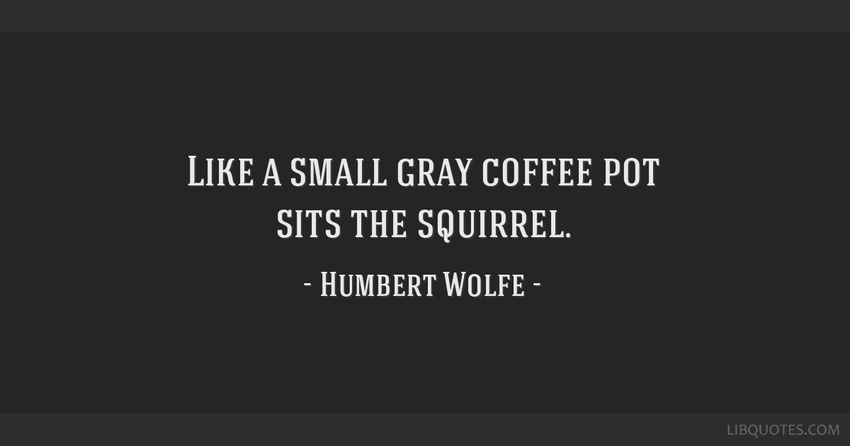 like a small gray coffee pot sits the squirrel