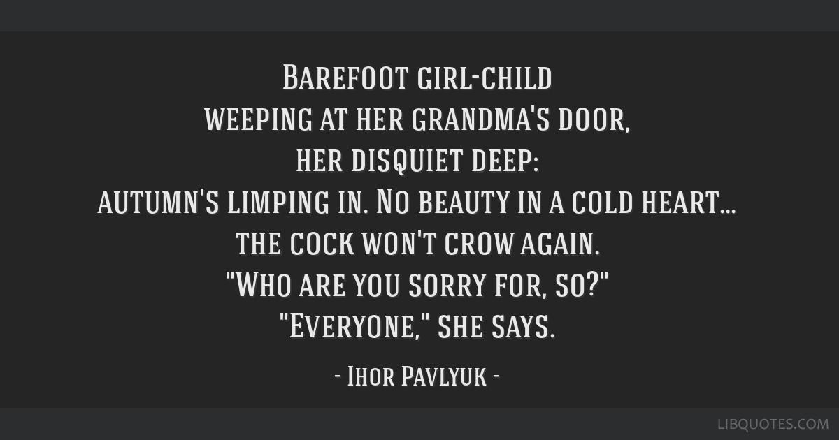 Barefoot Girl Child Weeping At Her Grandmas Door Her Disquiet Deep