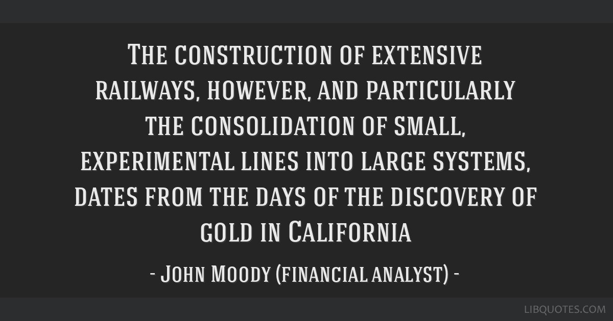 The construction of extensive railways, however, and particularly the consolidation of small, experimental lines into large systems, dates from the...