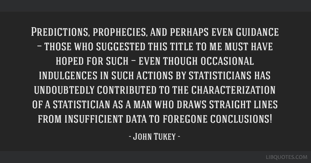 Predictions, prophecies, and perhaps even guidance — those who