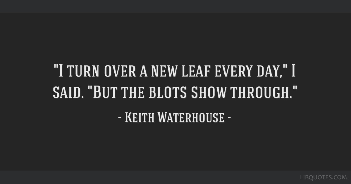 Picture Quote 2 I Turn Over A New Leaf