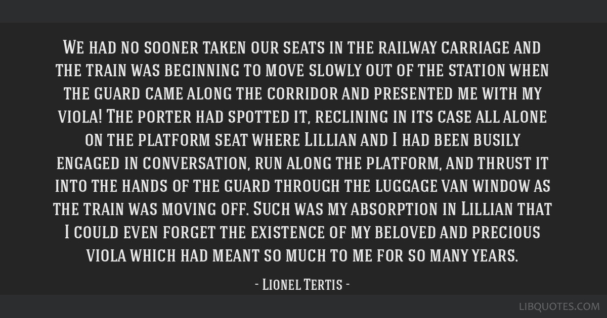 We had no sooner taken our seats in the railway carriage and the train was beginning to move slowly out of the station when the guard came along the...