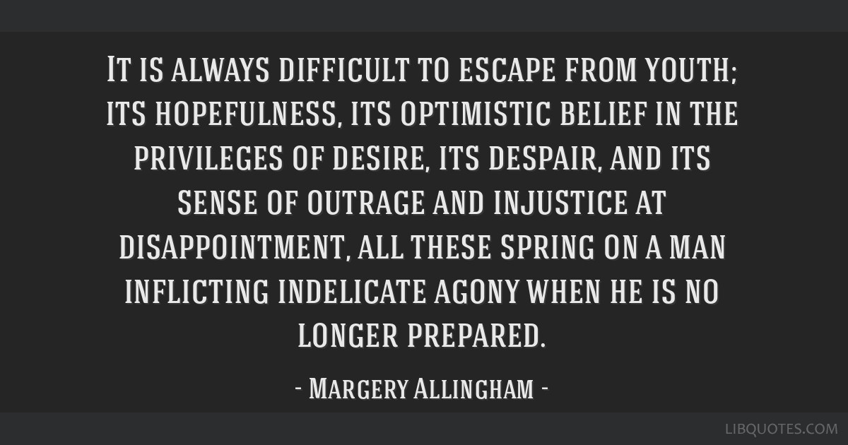 It is always difficult to escape from youth; its hopefulness, its optimistic belief in the privileges of desire, its despair, and its sense of...