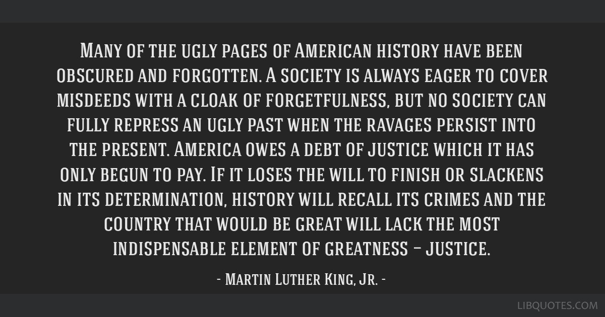 Many of the ugly pages of American history have been obscured and forgotten. A society is always eager to cover misdeeds with a cloak of...