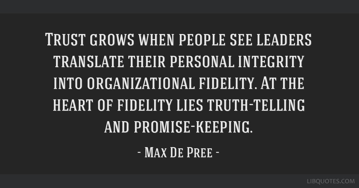 Trust Grows When People See Leaders Translate Their Personal