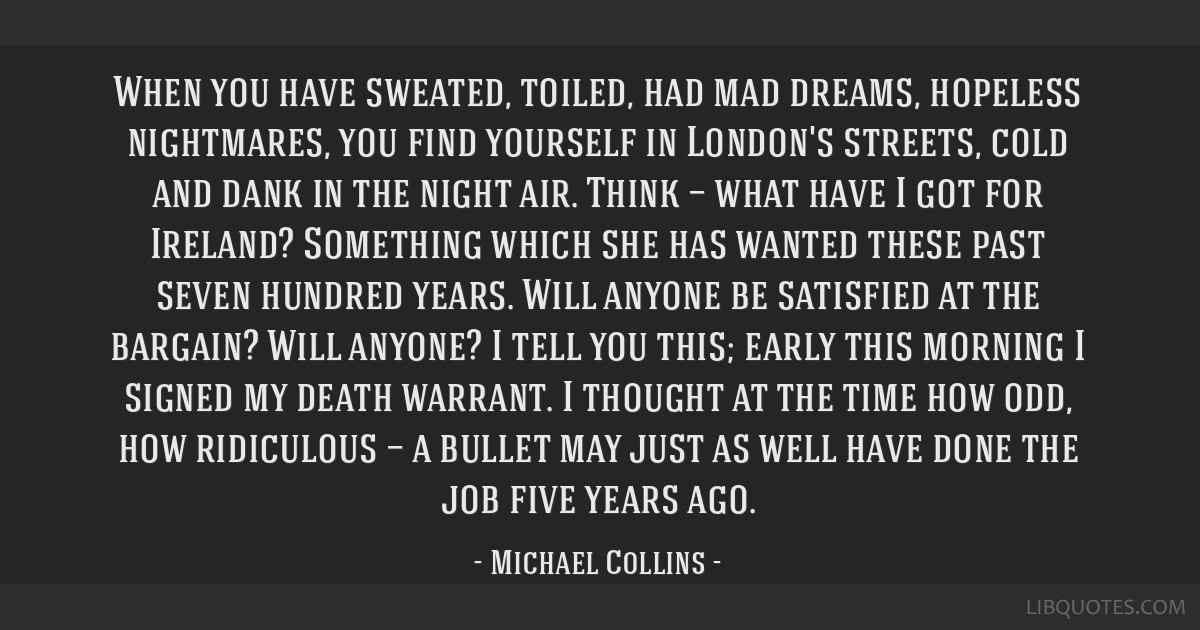 When you have sweated, toiled, had mad dreams, hopeless nightmares, you find yourself in London's streets, cold and dank in the night air. Think —...