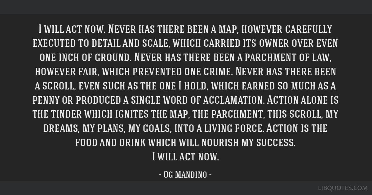 I will act now by og mandino