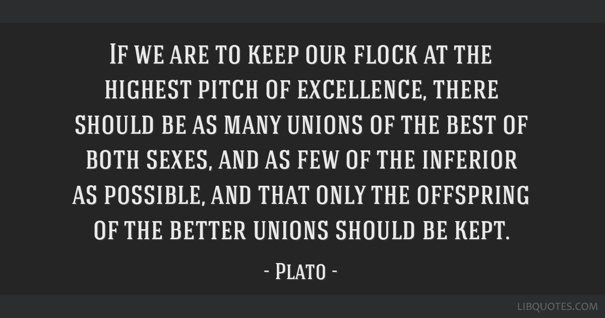 If we are to keep our flock at the highest pitch of excellence, there should be as many unions of the best of both sexes, and as few of the inferior...