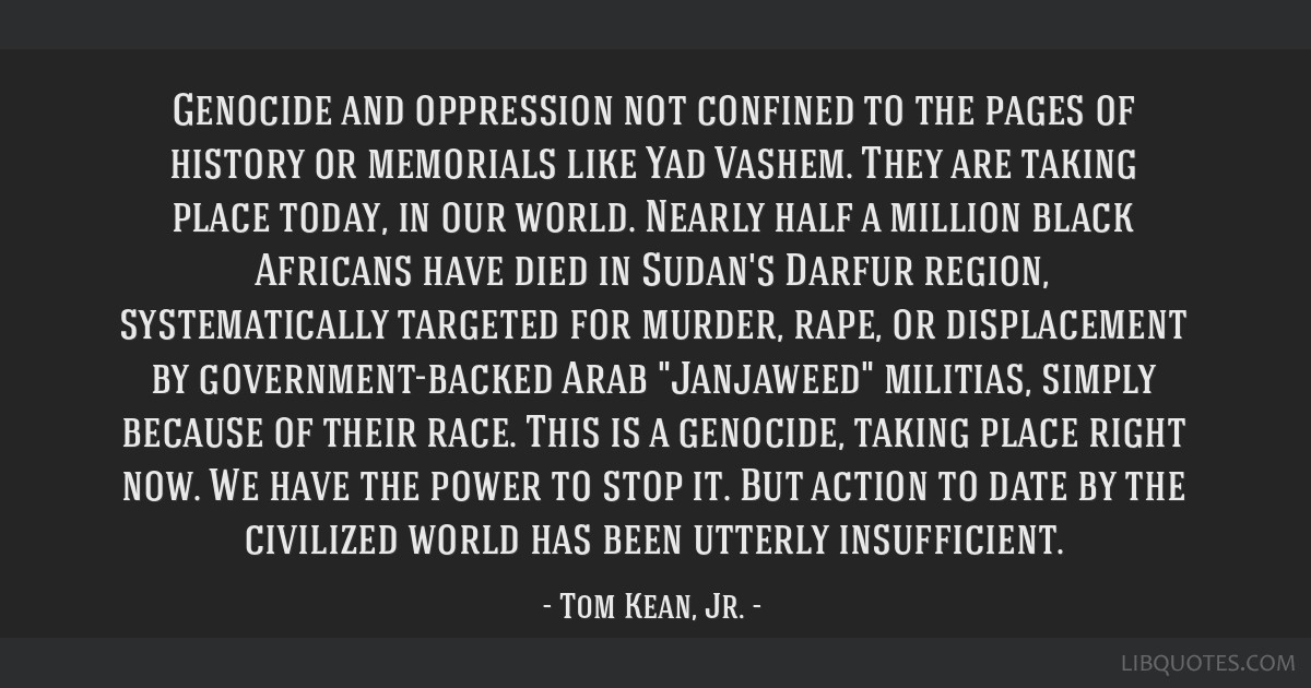 Genocide and oppression not confined to the pages of history or memorials like Yad Vashem. They are taking place today, in our world. Nearly half a...