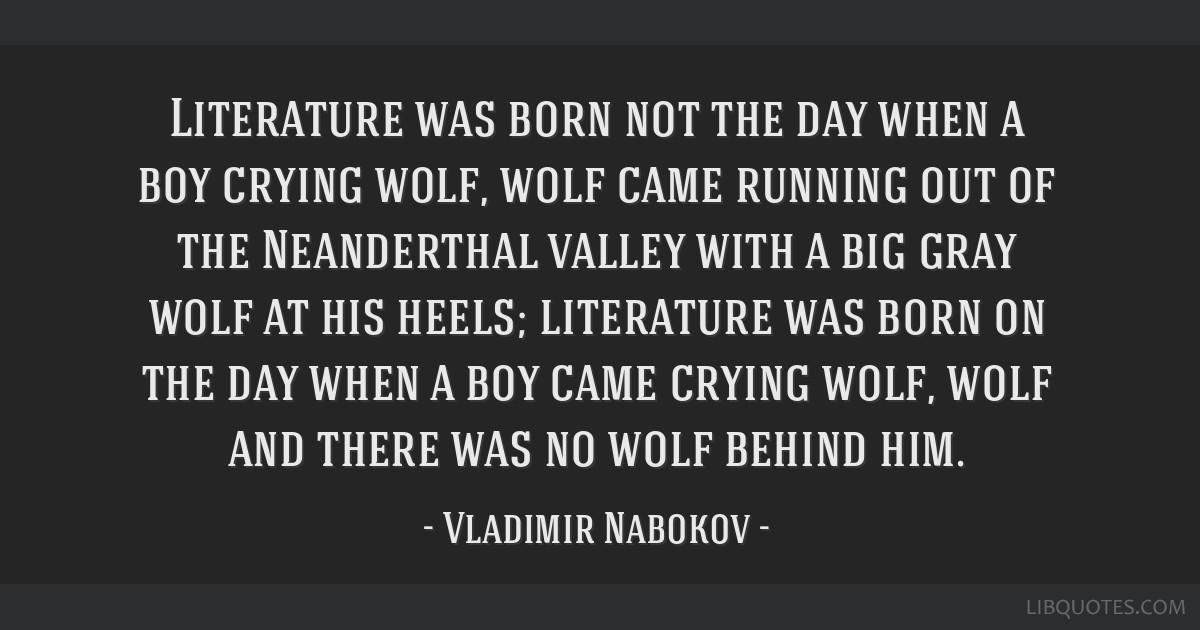 nabokov on literature