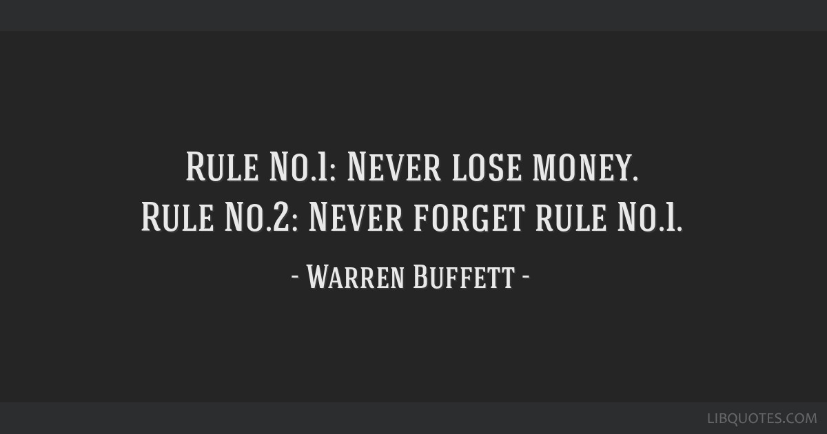 Rule #1 Finance Blog
