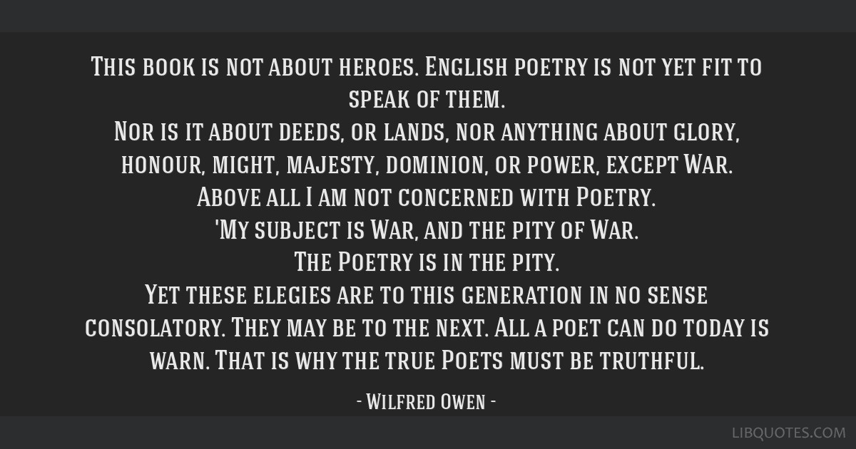 This book is not about heroes. English poetry is not yet fit to speak of them. Nor is it about deeds, or lands, nor anything about glory, honour,...