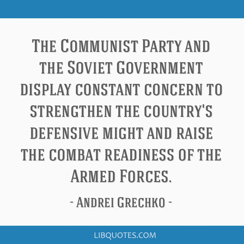 The Communist Party and the Soviet Government display constant concern to strengthen the country's defensive might and raise the combat readiness of...