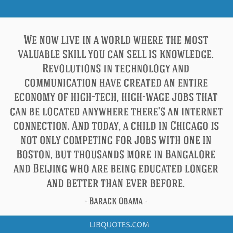We now live in a world where the most valuable skill you can sell is knowledge. Revolutions in technology and communication have created an entire...