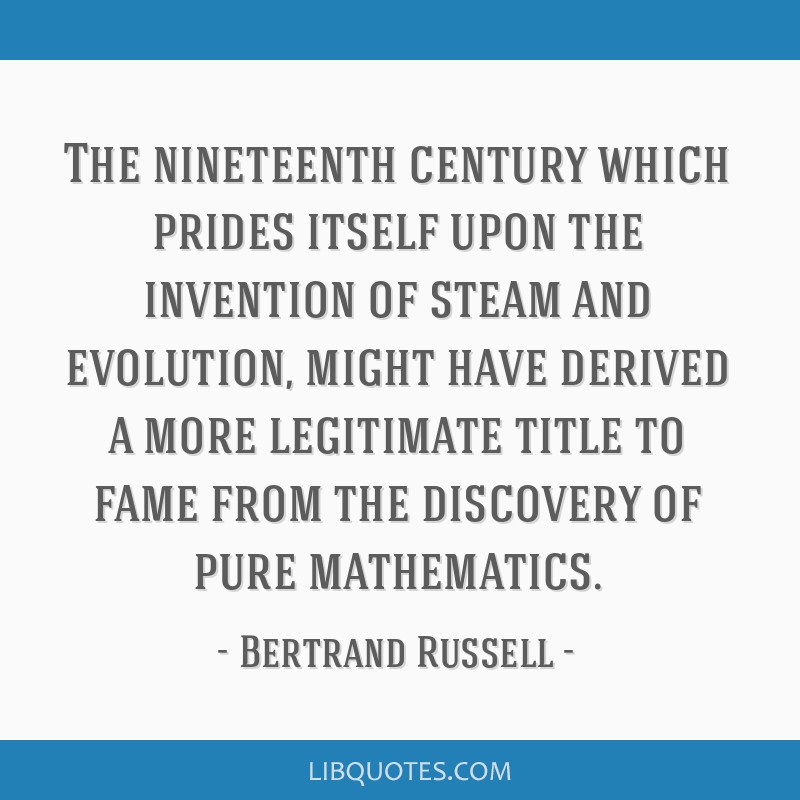 The nineteenth century which prides itself upon the invention of steam and evolution, might have derived a more legitimate title to fame from the...