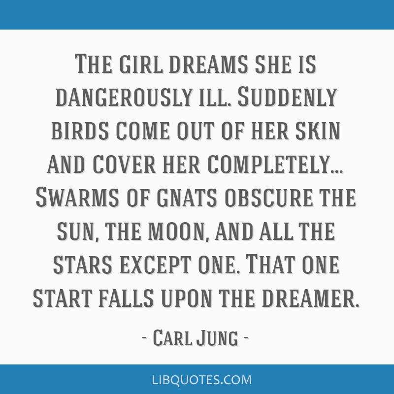 The girl dreams she is dangerously ill. Suddenly birds come out of her skin and cover her completely... Swarms of gnats obscure the sun, the moon,...