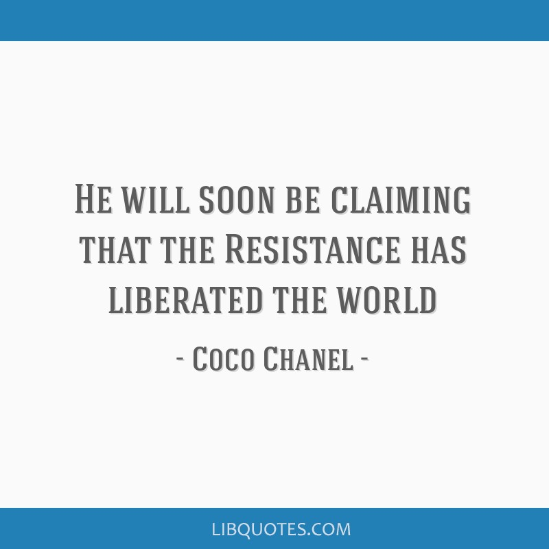 He will soon be claiming that the Resistance has liberated the world