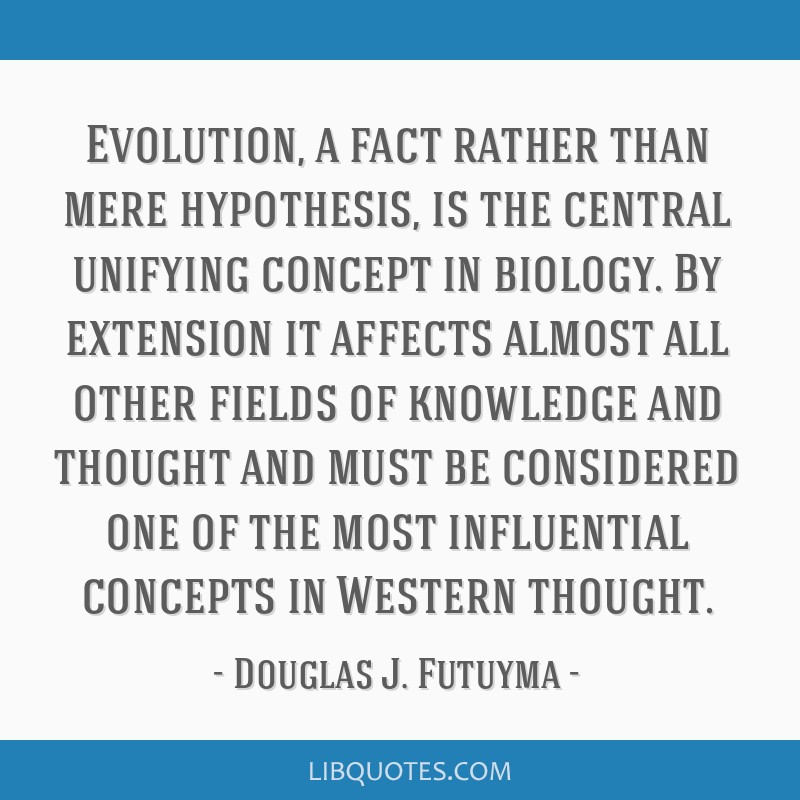 Evolution, a fact rather than mere hypothesis, is the