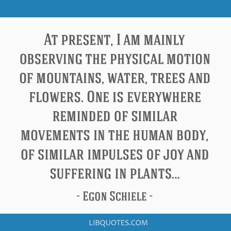 At present, I am mainly observing the physical motion of mountains, water, trees and flowers. One is everywhere reminded of similar movements in the...