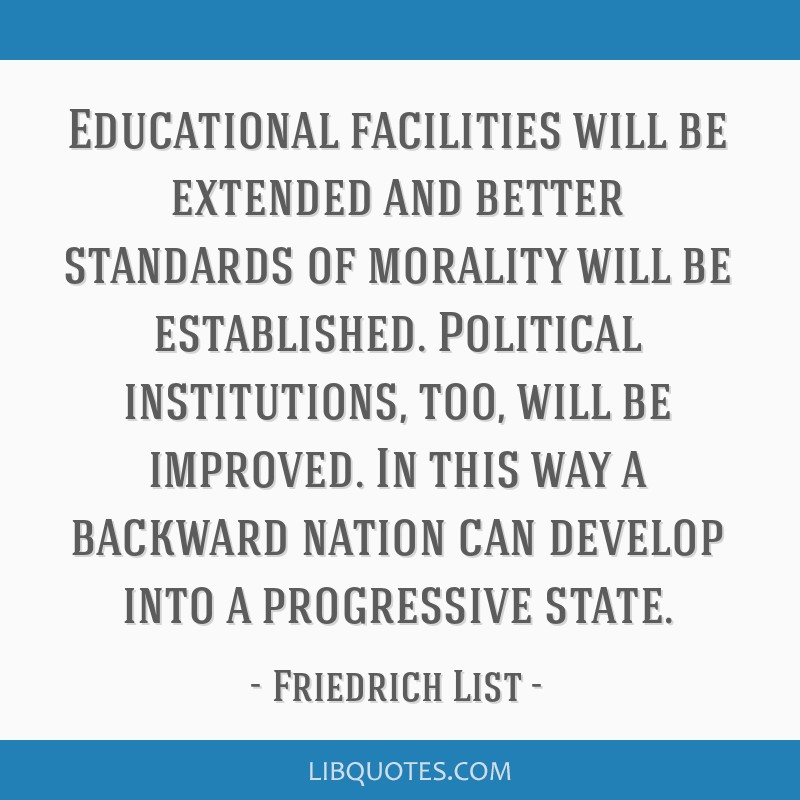 Educational facilities will be extended and better standards of morality will be established. Political institutions, too, will be improved. In this...