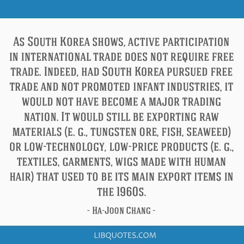 As South Korea shows, active participation in international trade