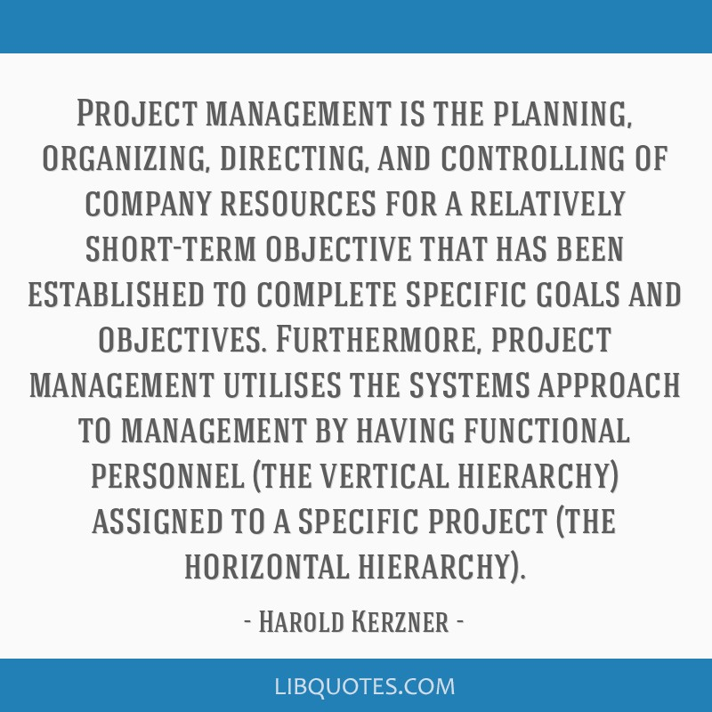 planning organizing and controlling