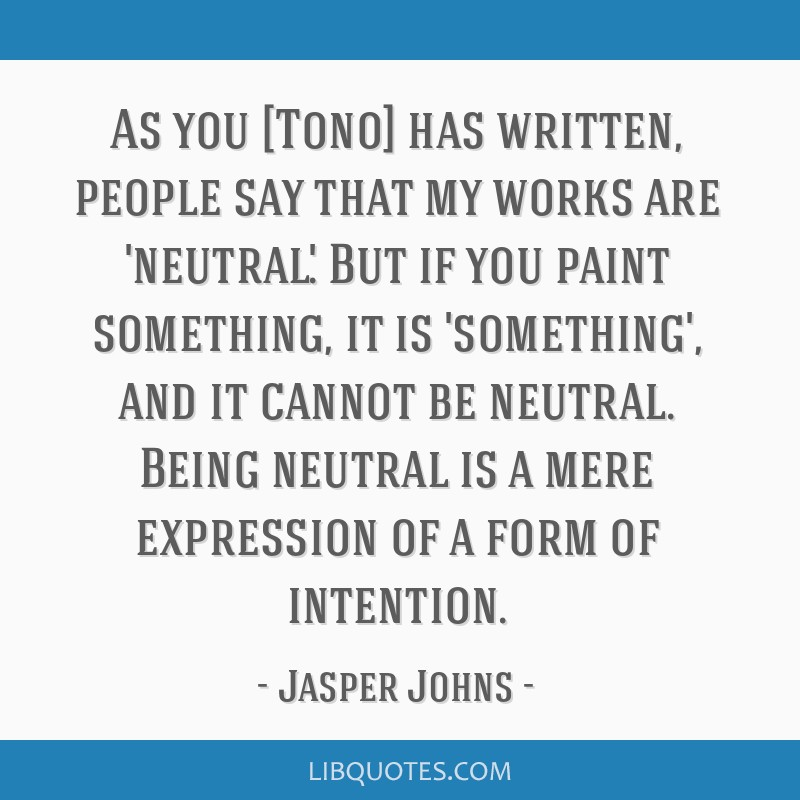As you [Tono] has written, people say that my works are 'neutral'. But if you paint something, it is 'something', and it cannot be neutral. Being...