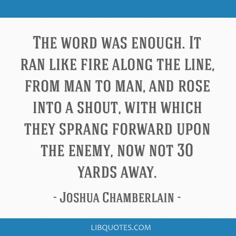 The word was enough. It ran like fire along the line, from man to man, and rose into a shout, with which they sprang forward upon the enemy, now not...