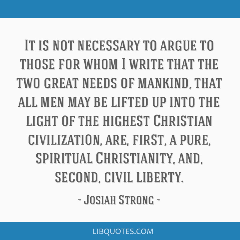 It is not necessary to argue to those for whom I write that the two great needs of mankind, that all men may be lifted up into the light of the...