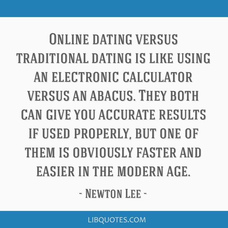 Online dating calculator