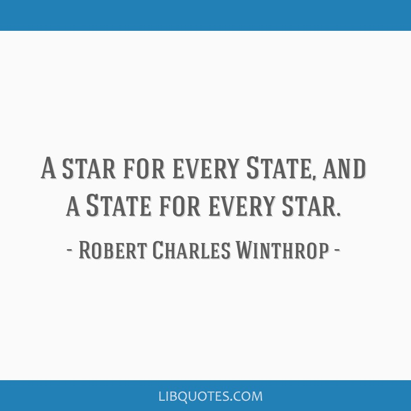 A star for every State, and a State for every star.