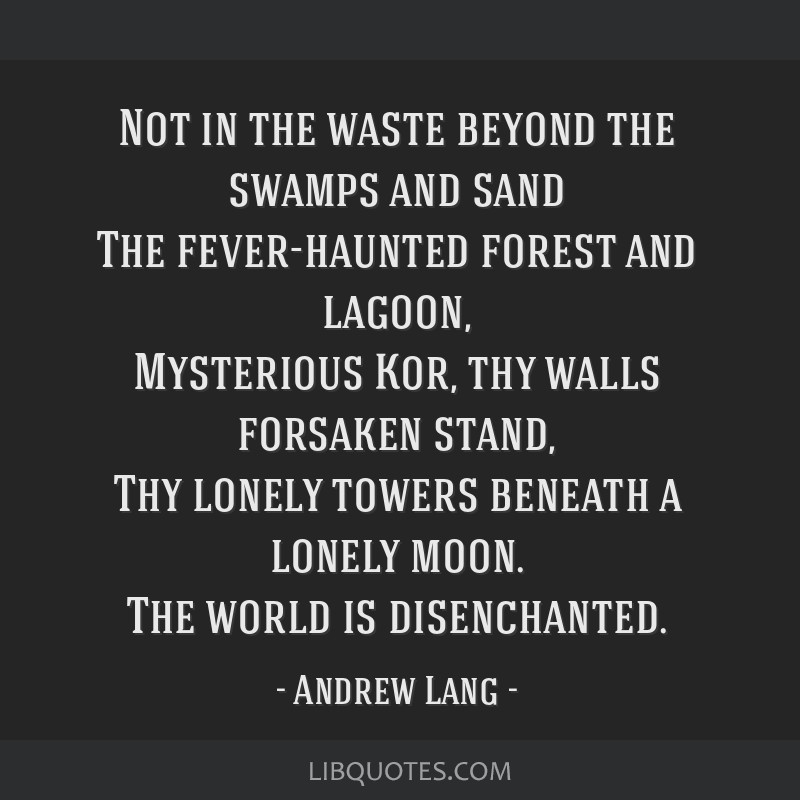 Not In The Waste Beyond The Swamps And Sand The Fever Haunted Forest