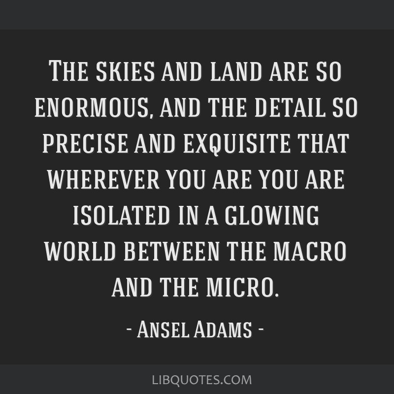 The skies and land are so enormous, and the detail so precise and exquisite that wherever you are you are isolated in a glowing world between the...