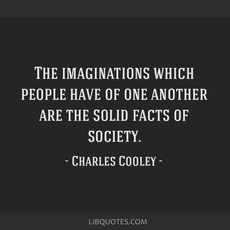 The imaginations which people have of one another are the solid facts of society.