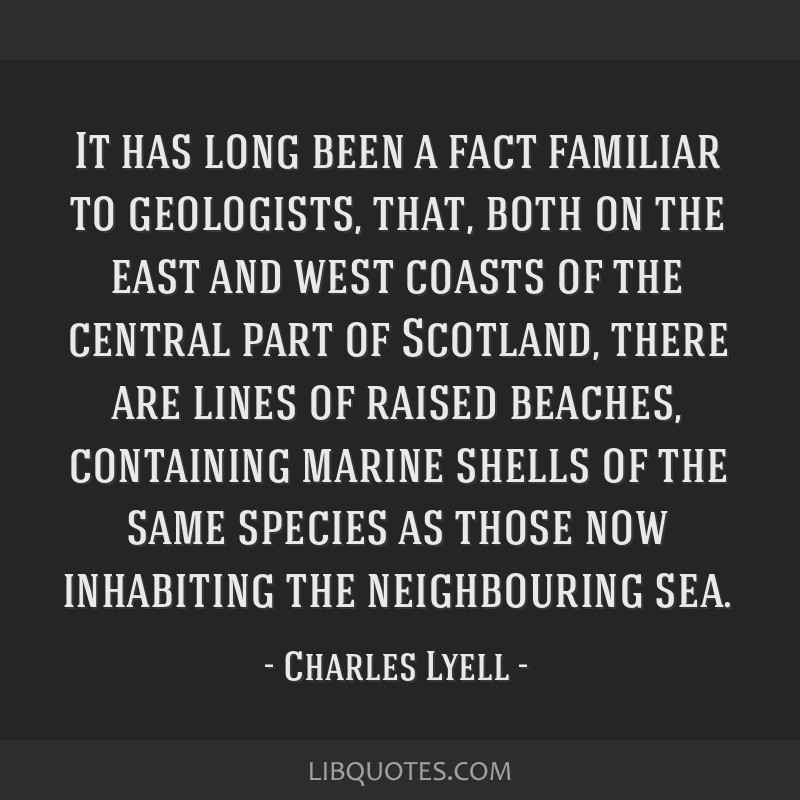 It has long been a fact familiar to geologists, that, both on the east and west coasts of the central part of Scotland, there are lines of raised...