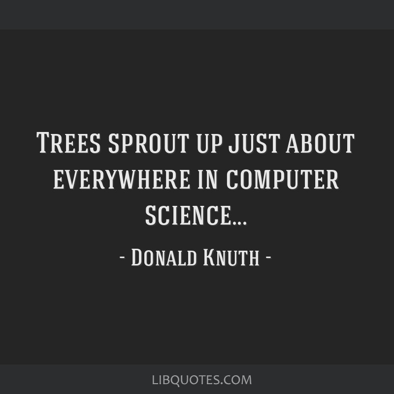 Trees sprout up just about everywhere in computer science...