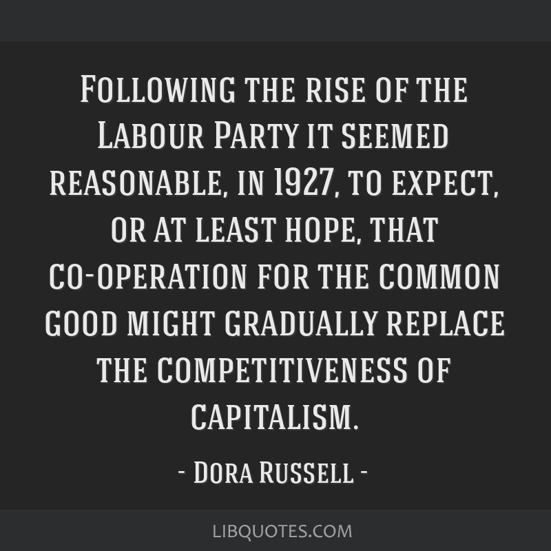 Following the rise of the Labour Party it seemed reasonable, in 1927, to expect, or at least hope, that co-operation for the common good might...