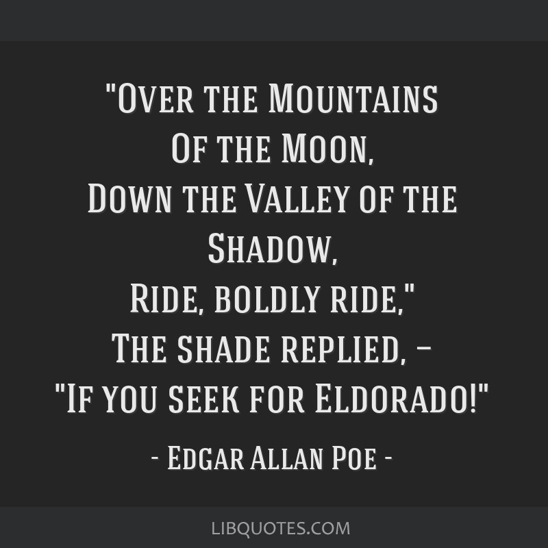 Over The Mountains Of The Moon Down The Valley Of The Shadow Ride