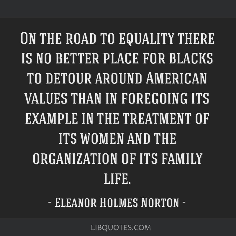 On the road to equality there is no better place for blacks to detour around American values than in foregoing its example in the treatment of its...