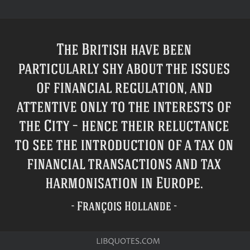 The British have been particularly shy about the issues of financial regulation, and attentive only to the interests of the City – hence their...