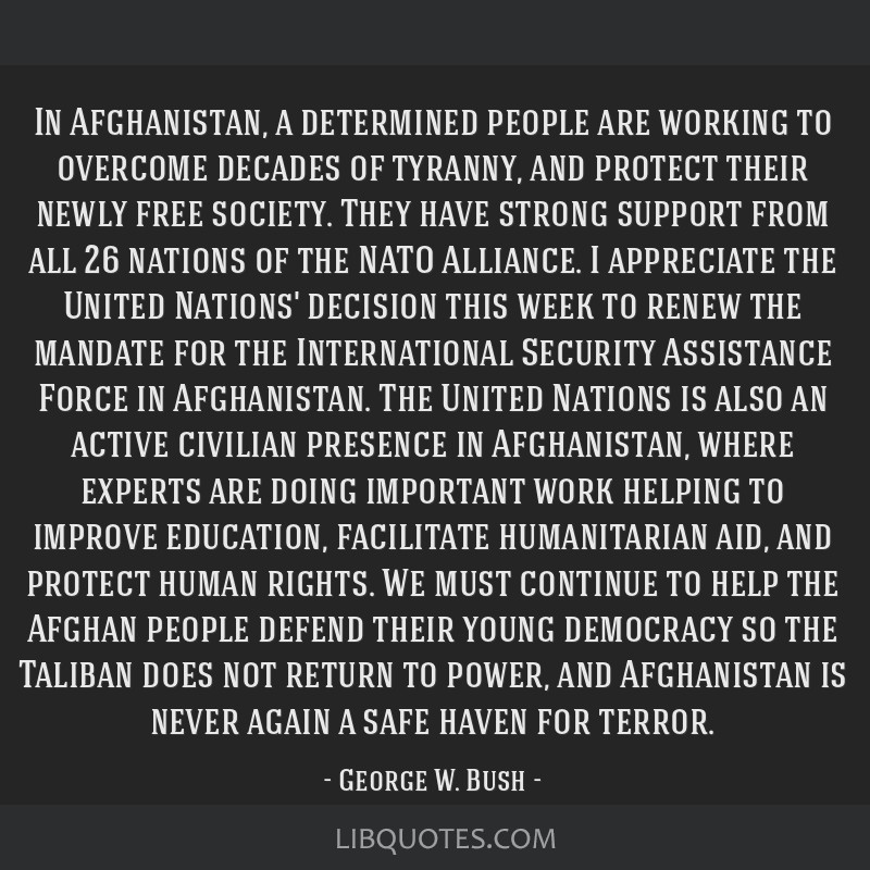 In Afghanistan, a determined people are working to overcome decades of tyranny, and protect their newly free society. They have strong support from...