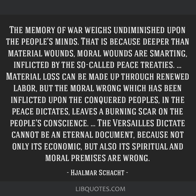 The memory of war weighs undiminished upon the people's minds. That is because deeper than material wounds, moral wounds are smarting, inflicted by...