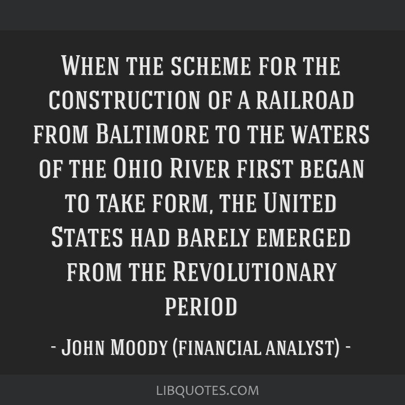 When the scheme for the construction of a railroad from Baltimore to the waters of the Ohio River first began to take form, the United States had...