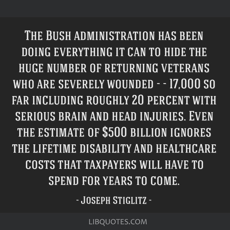 The Bush administration has been doing everything it can to hide the huge number of returning veterans who are severely wounded - - 17,000 so far...