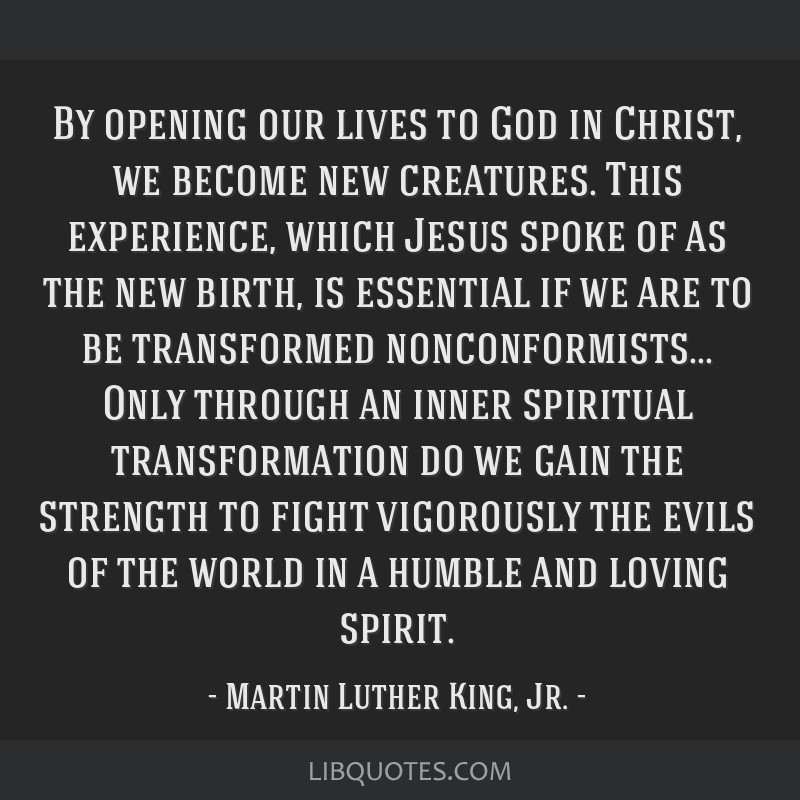 By opening our lives to God in Christ, we become new creatures. This experience, which Jesus spoke of as the new birth, is essential if we are to be...