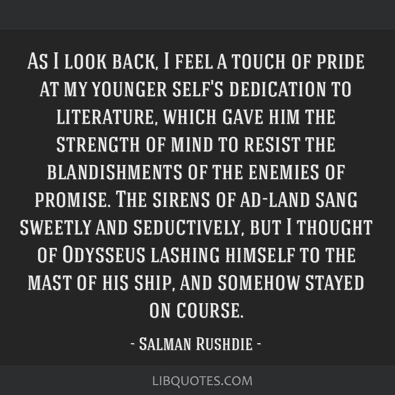 As I look back, I feel a touch of pride at my younger self's dedication to literature, which gave him the strength of mind to resist the...