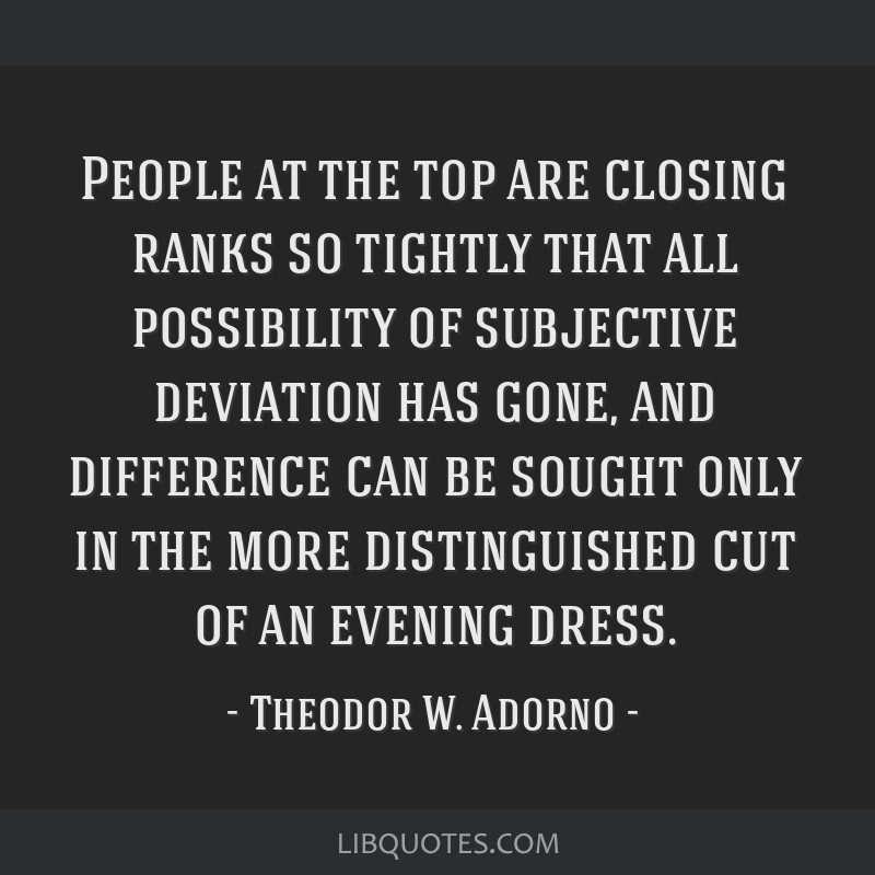 People at the top are closing ranks so tightly that all possibility of subjective deviation has gone, and difference can be sought only in the more...