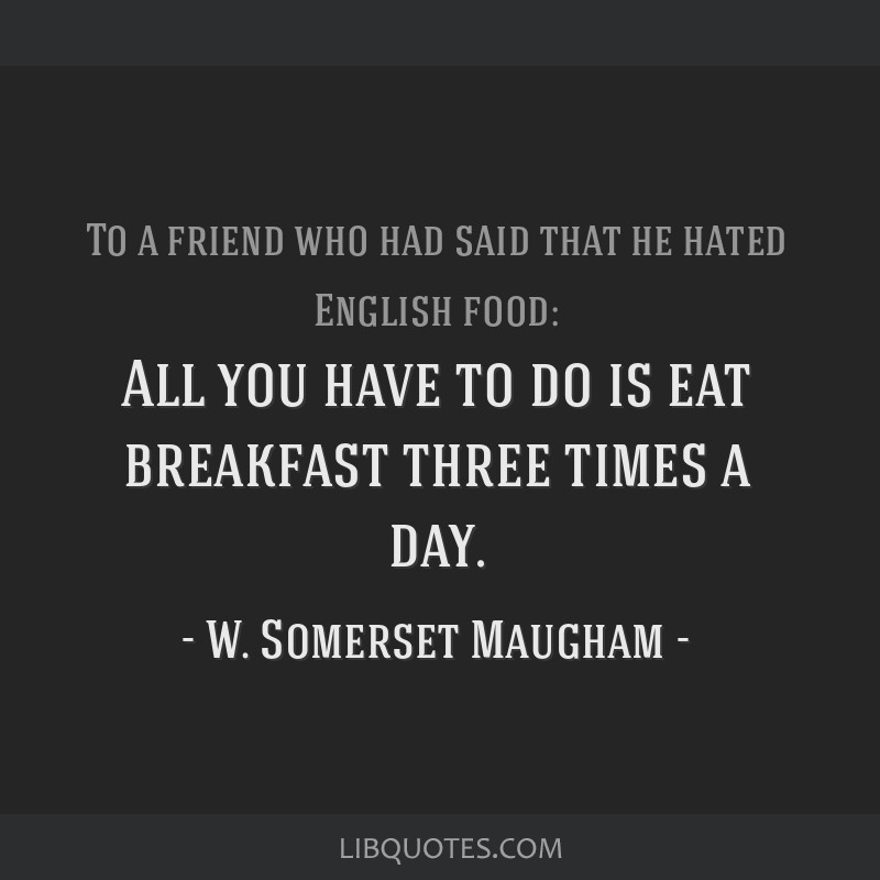 All you have to do is eat breakfast three times a day.
